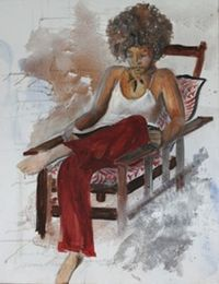 Woman-reading-2009-acrylic-36-x-48
