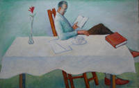Man_reading_at_table